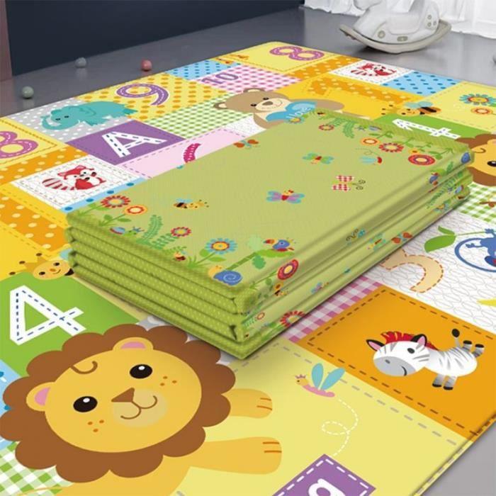 Tapis d'éveil,Imperméable bébé tapis de jeu bébé chambre décor maison pliable enfant ramper tapis - Type Lion King-180cmX100cmX1cm