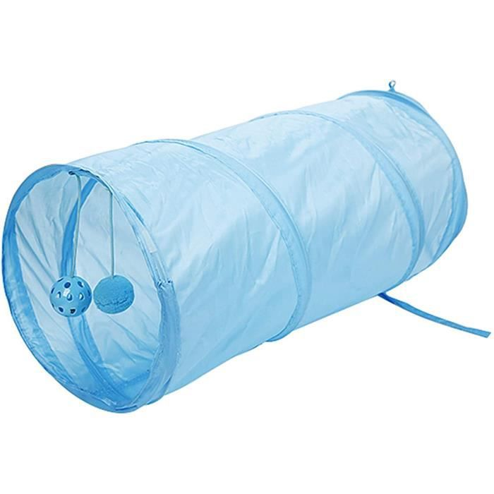 Tunnel pour Chaton Tunnel Chat Jeu Chat Pliable Léger Tunnel Tunnels Interactif pour Chats Pliable Jouet pour Chats Lapins Tunnel po
