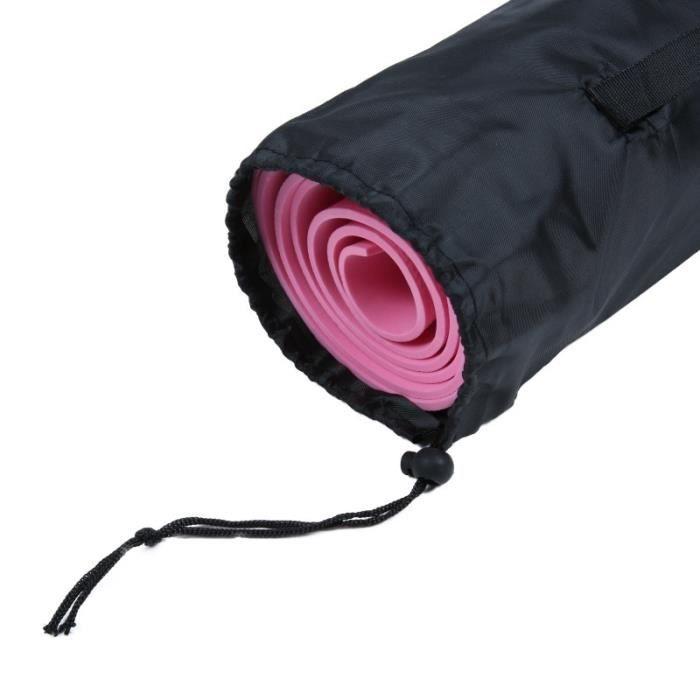 Sac de rangement pour tapis de yoga Sac à cordon Sacs en tissu Oxford Support de sangle réglable respirant Sac de rangement pour