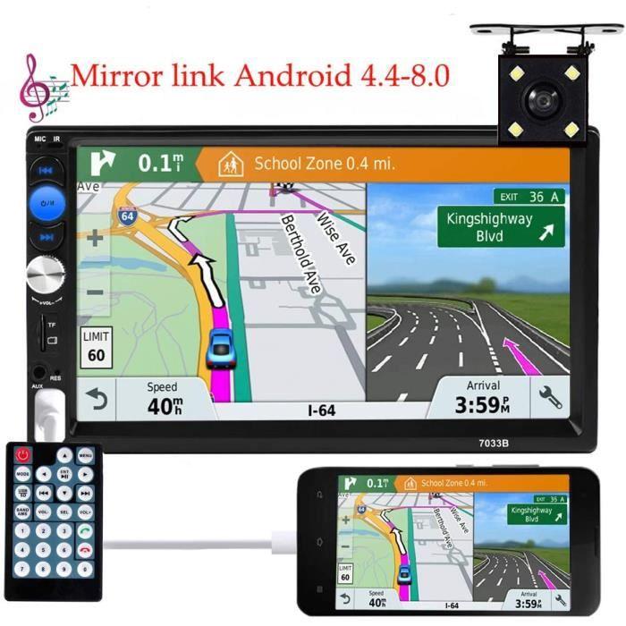 autoradio mirrorlink Android 2din autoradio 7-à écran Tactile HD Bluetooth multimédia USB 2din Autoradio Caméra de recul[358]