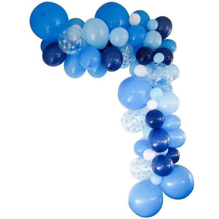 Décoration de salle avec guirlande organique et ballon bleu (x1) REF/50219