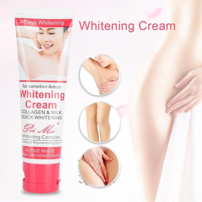 50ml Crème Éclaircissante Peau Lait de Blanchiment Hydratant Soin du Corps Anti-Âge pour Acné Aisselles Genou Bikini