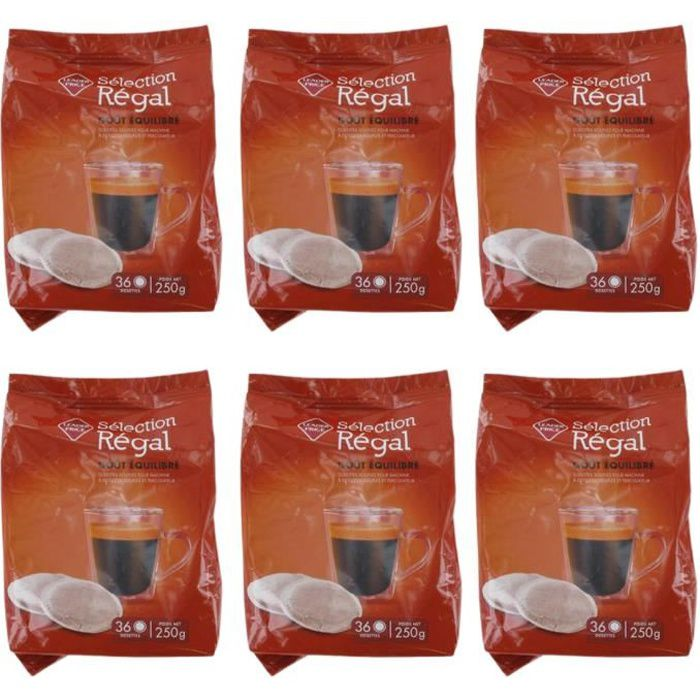 [Lot de 6] Café dosette sélection régal - 250g