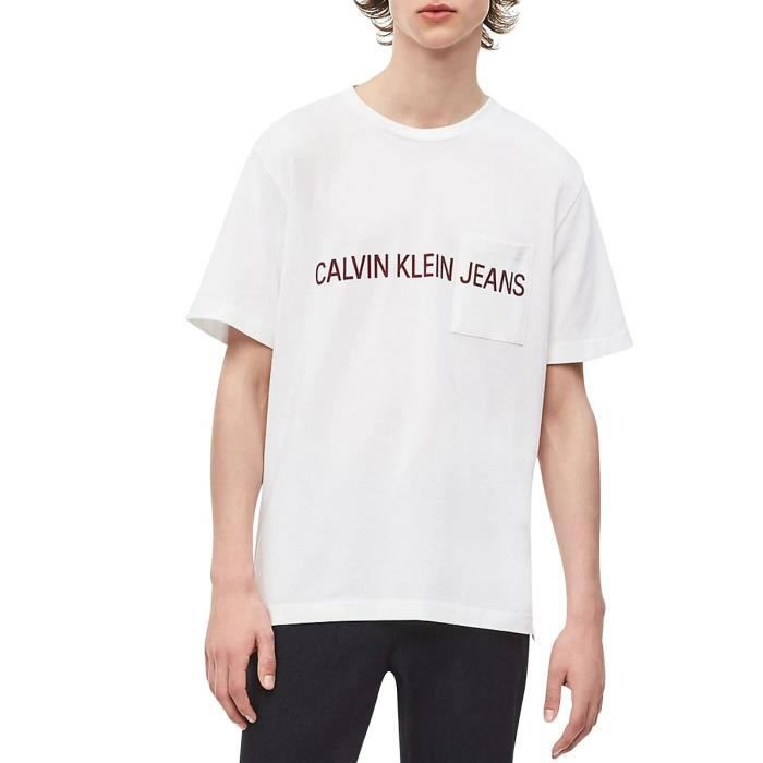 Tee shirt manches courtes INSTIT PIQUE Blanc