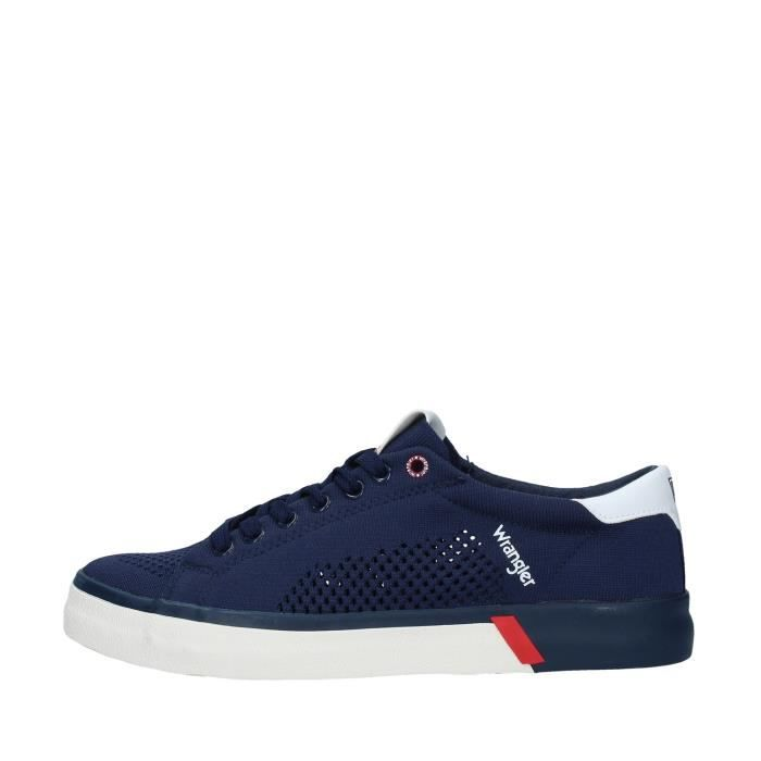 Wrangler WM01032A chaussures de tennis faible homme BLEU MARINE