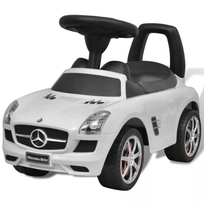 Mercedes Benz Voiture enfant Véhiciles à pédale avec Pousse-pied blanc