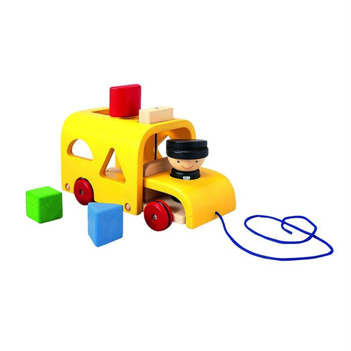 PLAN TOYS Jeu en bois Autobus à formes