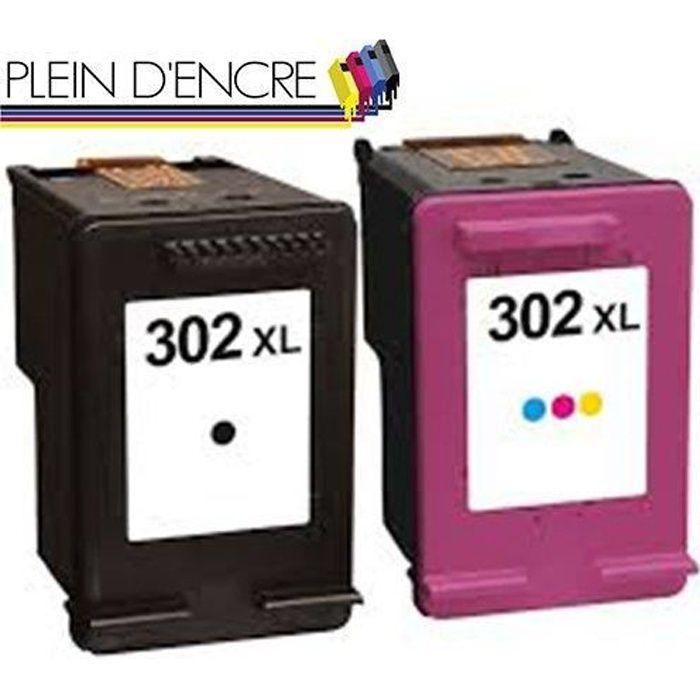 Cartouches N° 302 XL pour HP ENVY 4520 4521 4522 4523 4524 4525 4527 4528 - PLEIN D'ENCRE
