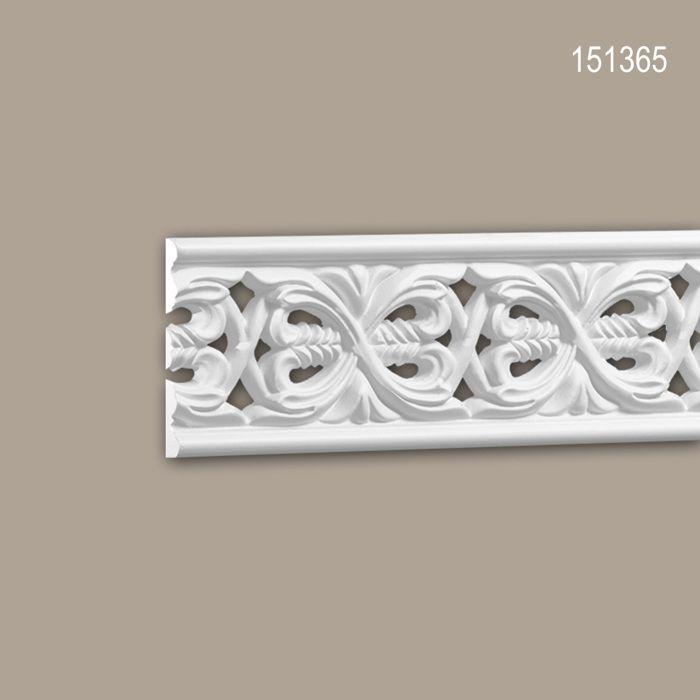 Cimaise 151365 Profhome Moulure décorative Moulure frise style Rococo-Baroque blanc 2 m.