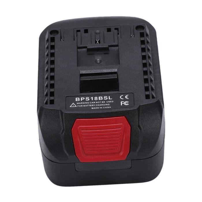 BPS18BSL Adaptateur Convertisseur de Batterie Li-Ion pour Noir Decker - Stanley - Porter Câble 18V Utilisé à pour Outil Bosch 18V