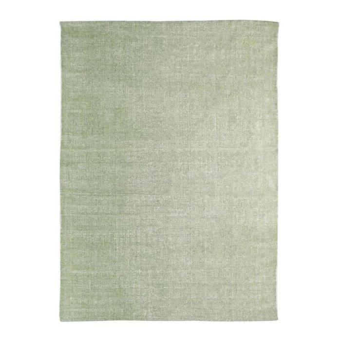 Tapis DUNES coton 120x170 vert clair