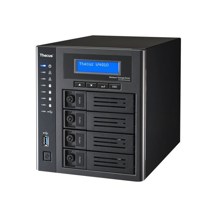 Thecus Technology W4810 Serveur Nas 4 Baies Sata 6Gb s Ram 4 Go Gigabit Ethernet Iscsi