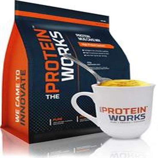 La protéine Works protéine tasse gâteau 500g Fudge Choc