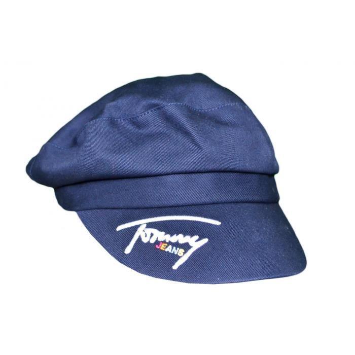 Casquette baker boy Tommy Jeans bleu marine pour femme - Couleur: Bleu - Taille: TU