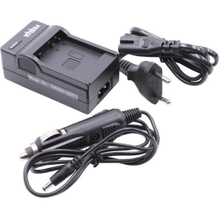 vhbw Chargeur de batterie compatible avec Panasonic Lumix DMC-GF5X, DMC-GX7, DMC-GX80, DMC-GX80H batterie appareil photo digital,