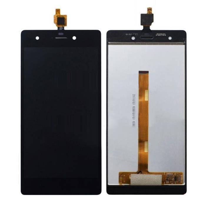 Ecran complet vitre tactile LCD pour Wiko Pulp 4G noir