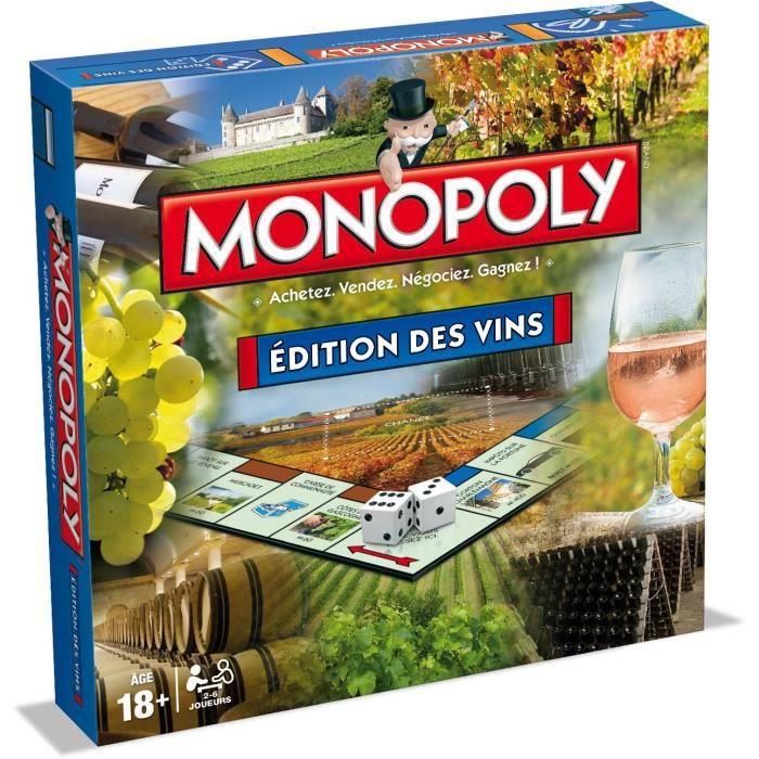 MONOPOLY - Editions des vins - Jeu de societé - Version française