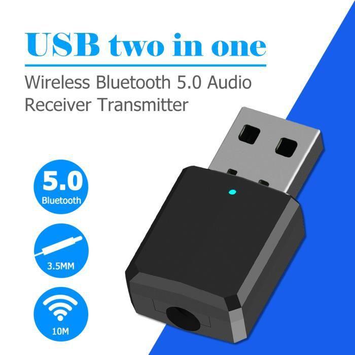 ADAPTATEUR BLUETOOTH USB Bluetooth 5.0 Adaptateur de dongle  émetteur r