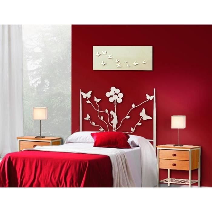 t tes de lit en fer forg mod le petite fille papillons. Black Bedroom Furniture Sets. Home Design Ideas