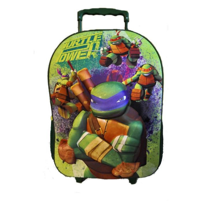 tortues ninja en 3d cartable garon 40cm achat vente cartable tortues ninja en 3d - Cartable Tortue Ninja