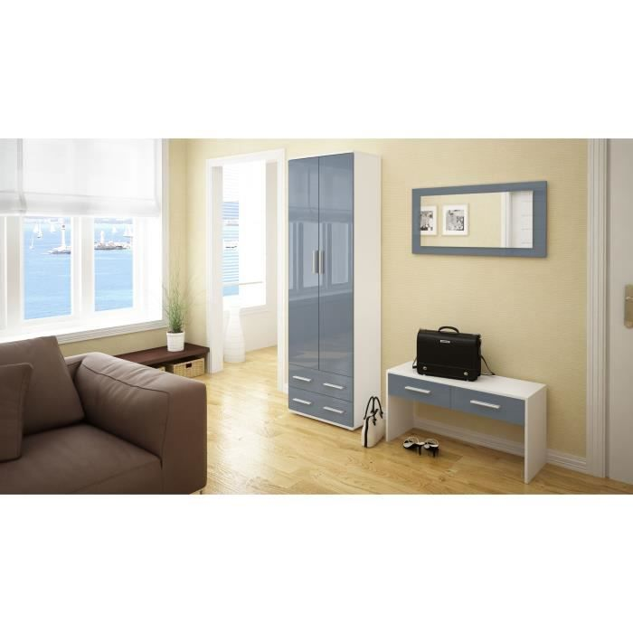 ensemble de meubles d 39 entr e blanc et gris achat vente meuble d 39 entr e ensemble de meubles d. Black Bedroom Furniture Sets. Home Design Ideas