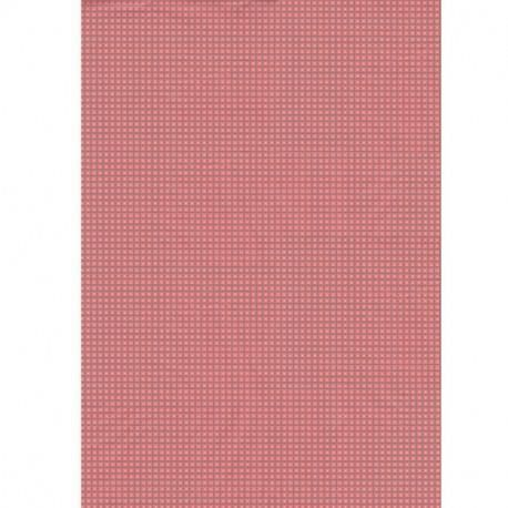 Kit papier créatif Feuille decopatch n°647, Petits carrés Roses sur f