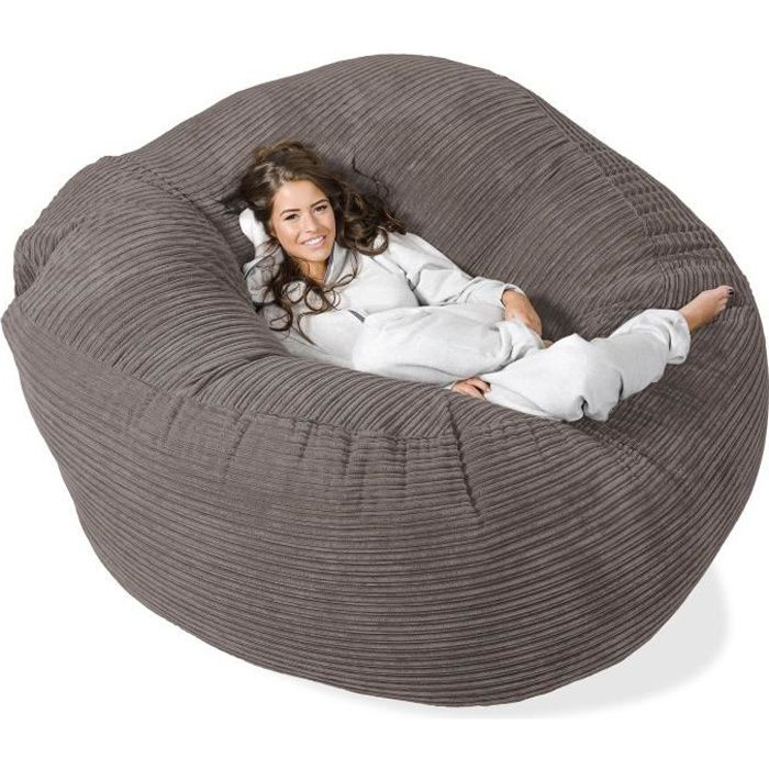 pouf g ant grande mammouth anthracite achat vente pouf poire cdiscount. Black Bedroom Furniture Sets. Home Design Ideas
