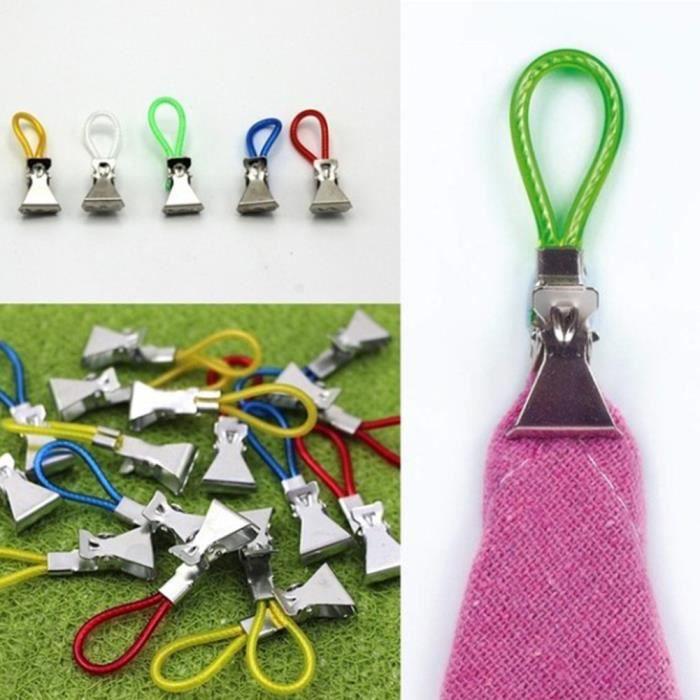 Serviettes Lot 20 Anneaux Pince,Crochets,Accroche Tout,Linge de Maison,Torchons