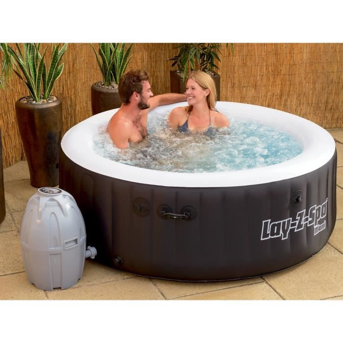 jacuzzi d 39 ext rieur spa gonflable whirlpool lay z spa miami achat vente spa complet. Black Bedroom Furniture Sets. Home Design Ideas