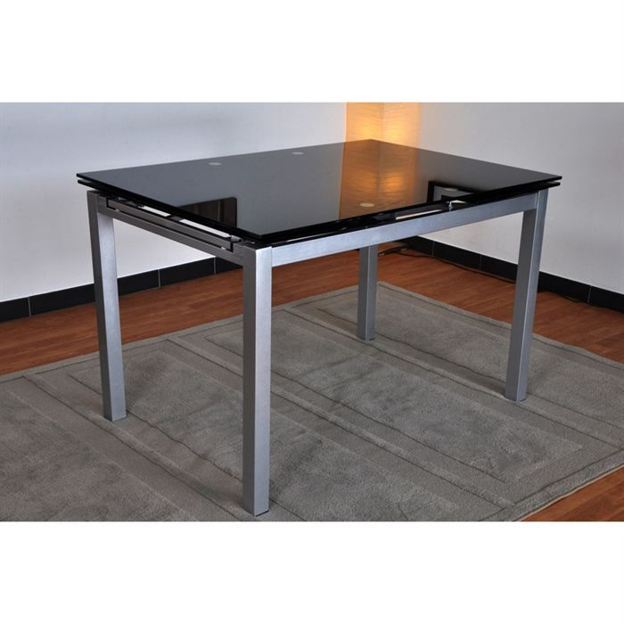 Table verre ovale rallonge daco salle auac manger nos for Table ovale verre extensible