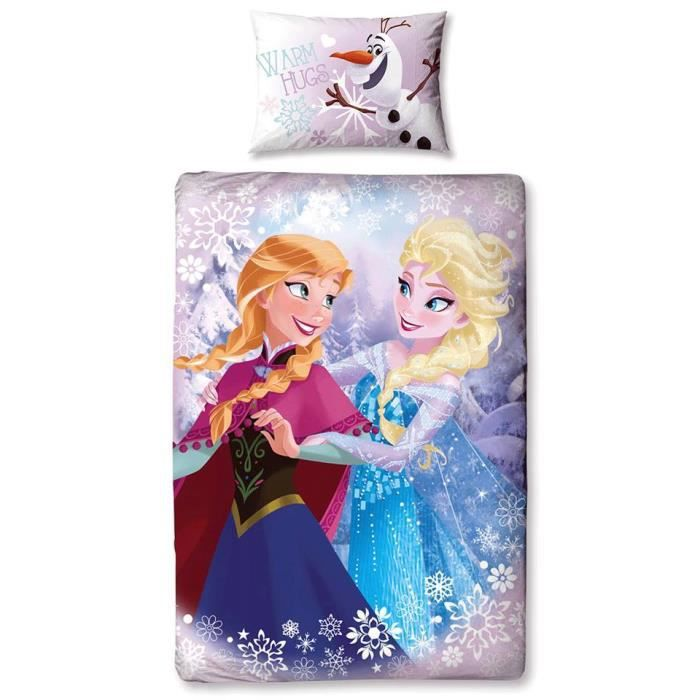 parure de lit reine des neiges elsa anna disney achat. Black Bedroom Furniture Sets. Home Design Ideas