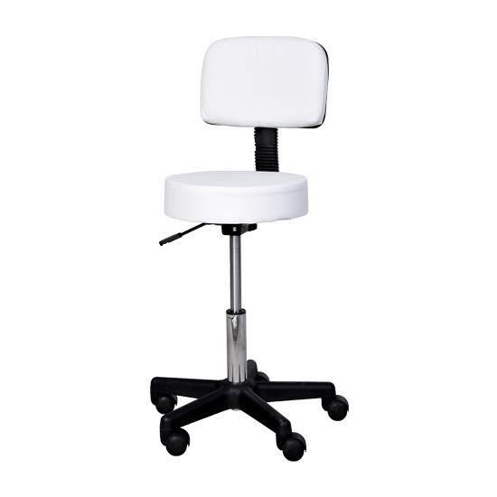 tabouret massage roulettes pivotant hauteur r gl achat vente tabouret blanc cdiscount. Black Bedroom Furniture Sets. Home Design Ideas