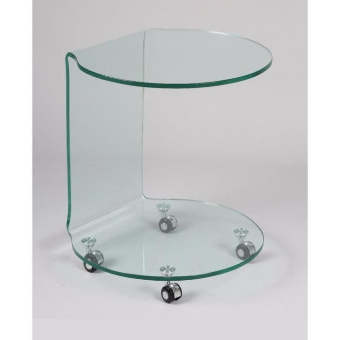table basse tulipe table basse sur roulettes entirement en - Table Basse A Roulettes