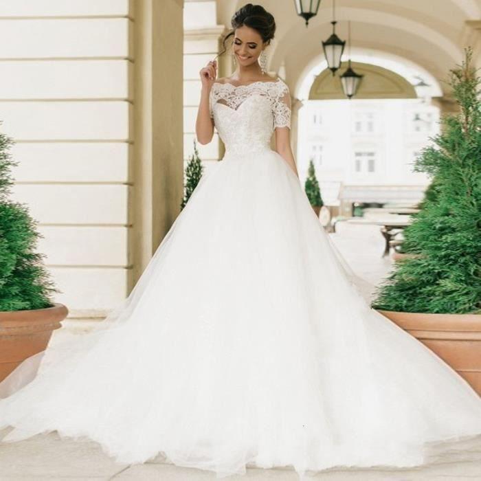 Robe de Mariée Mariage Princesse en Tulle