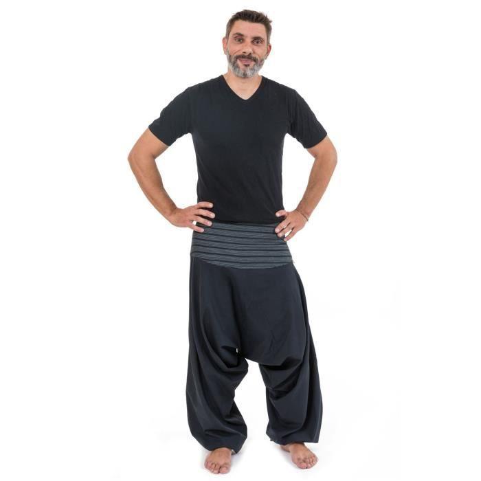 Pantalon sarouel bali noir rayures noire
