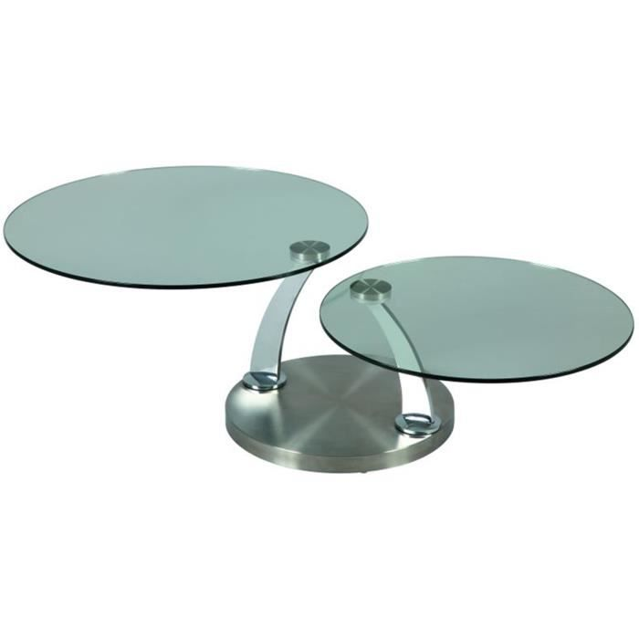 Table basse verre dessus verre tremp pi temen achat vente table bass - Table basse verre trempe ...