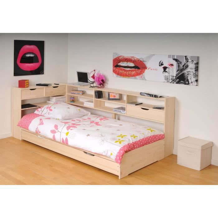 roller lit enfant tag res 90x190cm naturel achat vente lit mezzanine roller lit. Black Bedroom Furniture Sets. Home Design Ideas