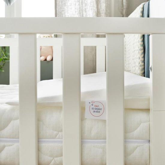 Babysom Inclinateur 15/° Limite la r/égurgitation Plan inclin/é Ventil/é Fabrication fran/çaise D/éhoussable 60x35cm Pour lit b/éb/é 60x120cm