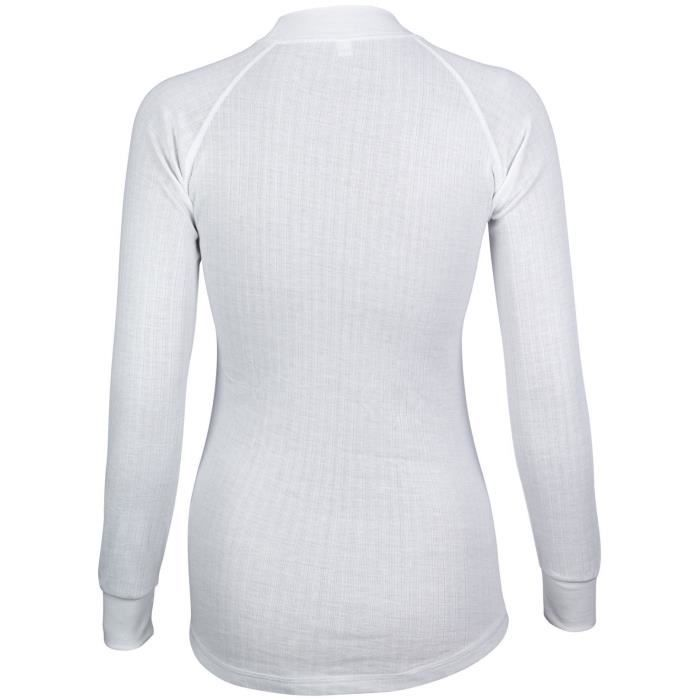 AVENTO Sous-vêtement thermique Manches Longues - Femme - Blanc