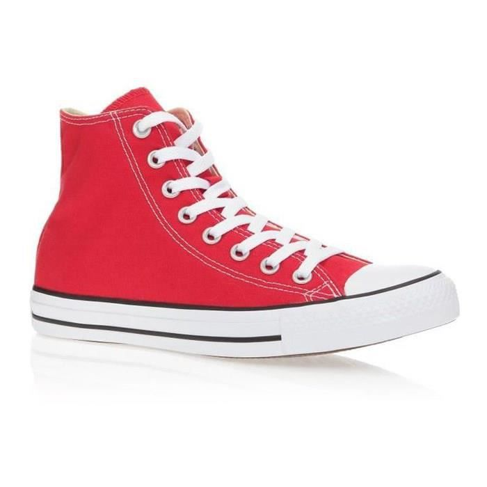 CONVERSE Baskets Montantes All Star Rouge Mixte