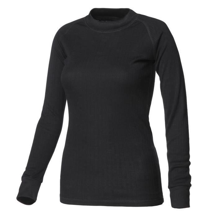 AVENTO Sous-vêtement thermique Manches Longues - Femme - Noir