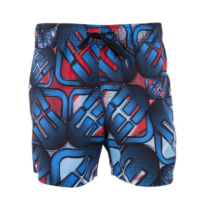 FREEGUN Boardshort Court - Homme - Rouge / Bleu