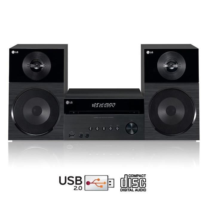 lg cm2521 micro cha ne hifi cd usb chaine hi fi prix. Black Bedroom Furniture Sets. Home Design Ideas