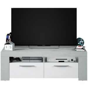 MEUBLE TV AMBIT Meuble TV TRAVIS Béton 2 portes - Style cont