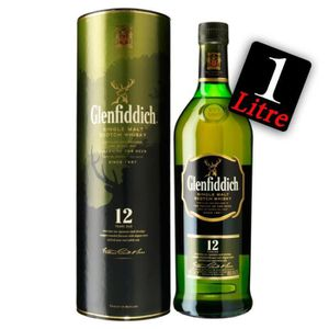 WHISKY BOURBON SCOTCH Glenfiddich 12 ans 1 litre