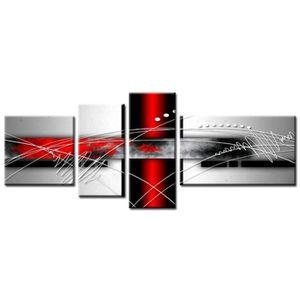 TABLEAU - TOILE FORCE Tableau Multi Panneaux  abstrait 160x60 cm r