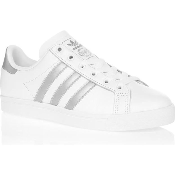 ADIDAS ORIGINALS Baskets Coast Star - Femme - Blanc et argent