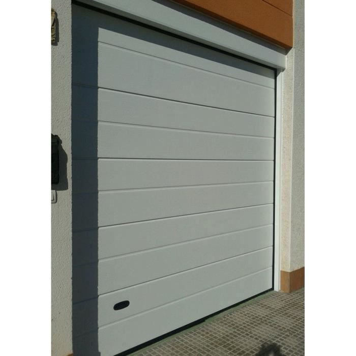 Porte de garage manuelle sectionnelle rainur e 240x212 5cm for Porte de garage sectionnelle 200x240