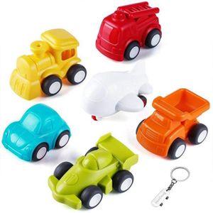 Rubyu Petite Voiture Miniature V/éhicule de Construction Chantier /à Friction Lot Jouet Enfant Gar/çon Panneau de signalisation 16 Pcs