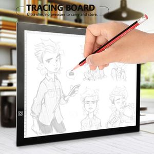 TABLE A DESSIN A3 Tablette Lumineuse LED Portable 3 Niveaux Lumin